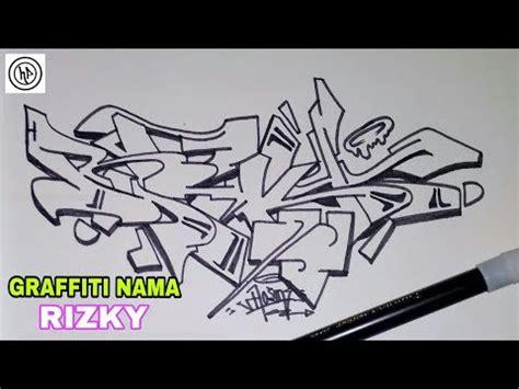 trend terbaru grafiti nama rizky gambar grafiti rizky