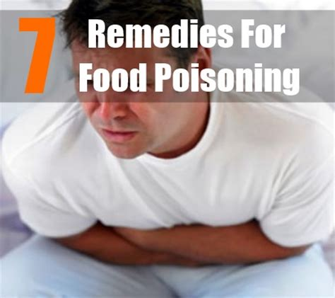 home remedies for food poisoning how to treat food