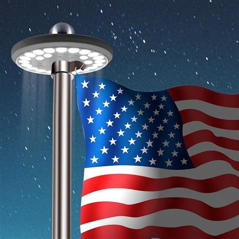 flagpole top hat disc light product details