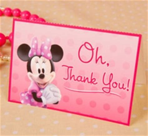 Minnie Mouse Thank You Card Template by Free Minnie Mouse Thank You Cards Tip Resource