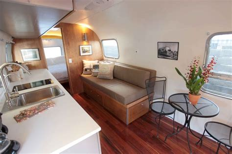Remodeled Airstream Interiors by Restored Airstream Interior Vintage Trailer Remodel
