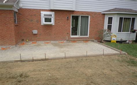 concrete patio demo and install west chester ohio