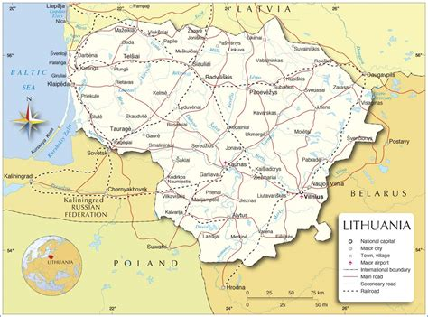 lithuania world map lithuania map map of lithuania lithuania map in
