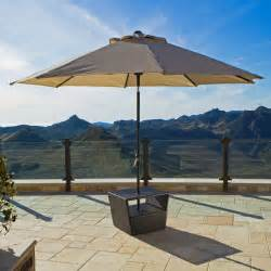 Patio Umbrella Table Lounger Side Table With Umbrella Base Contemporary