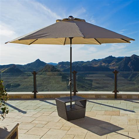 Patio Umbrella Stand Table Lounger Side Table With Umbrella Base Contemporary Outdoor Side Tables Salt Lake City By