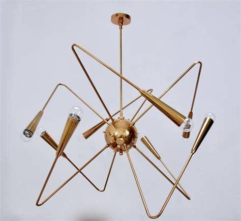 Lu Chandelier lu brass sputnik chandelier by lumfardo luminaires for sale at 1stdibs