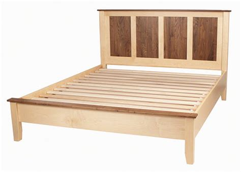 Solid Wood Bed Frame Low Platform Bed Frame Feel The Home