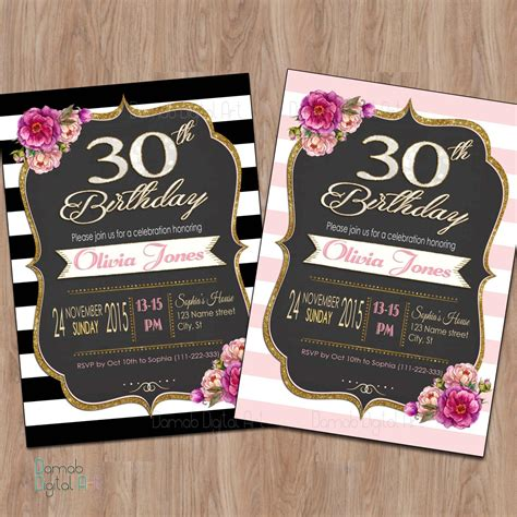 30th bday invitations 2 20 interesting 30th birthday invitations themes wording