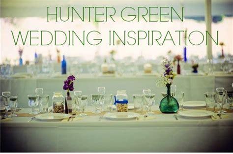 Hunter Green Wedding Inspiration   Rustic Wedding Chic