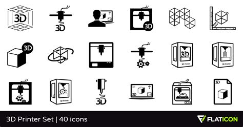 Home Design 3d Library 3d printer set 40 free icons svg eps psd png files