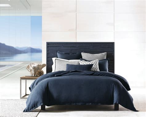 navy bed linen hotel collection linen navy bedding collection
