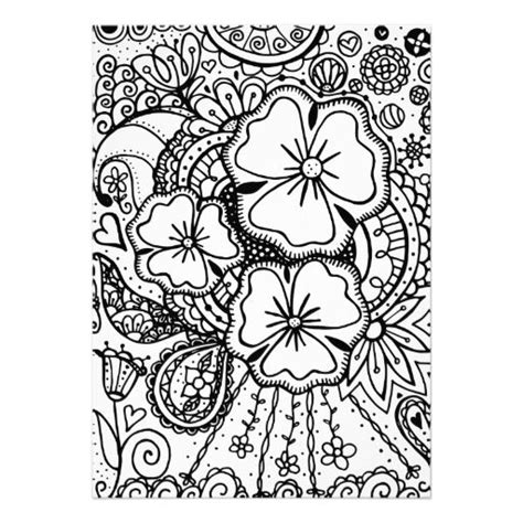 printable zentangle flowers flower abstract doodle zentangle paisley coloring pages