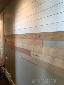 Easy Shiplap Diy Shiplap Wall Easy Cheap And Beautiful Part 1 One