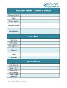 perfect your prospect profile templates free examples