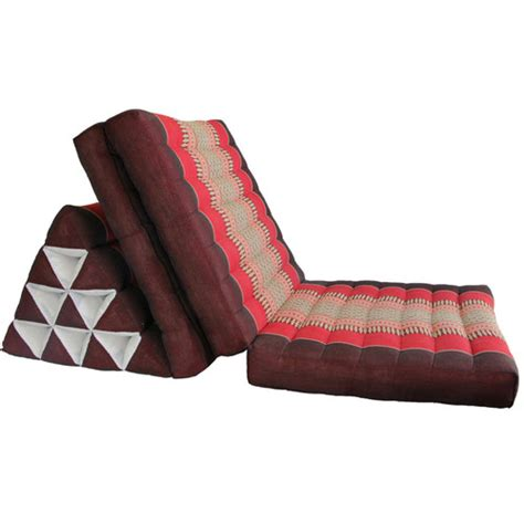 Triangle Pillows For Sale by New Thai Large Three Fold Triangle Pillow Cushion Fold Out