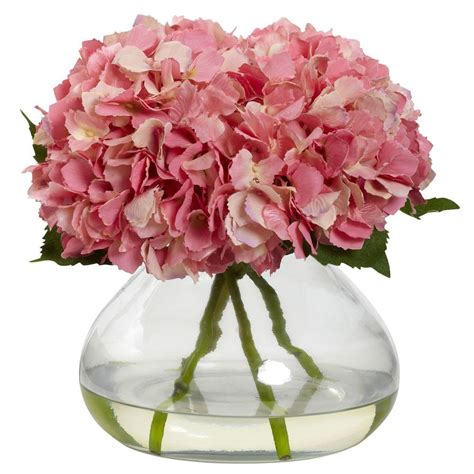 blooming vase nearly natural large blooming hydrangea with vase 1357 pk