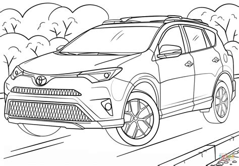 coloring pages toyota cars toyota rav4 coloring page free printable coloring pages