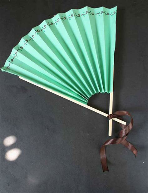 How To Make A Paper Fan - from popsicles to craft projects handmade