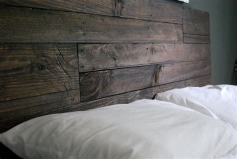 Wood Headboard by Industrial And Reclaimed Wood Headboard Espresso