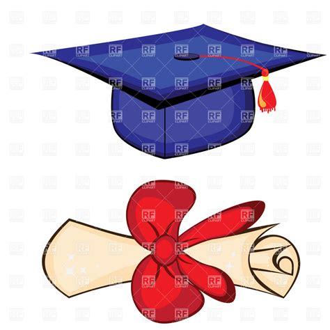 diploma clipart diploma and graduation cap royalty free vector clip