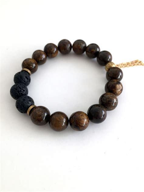 Handmade Gemstone Bracelets - bronzite gemstone bracelet handmade jewelry by jewelry