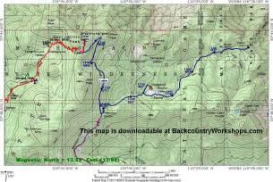 san jacinto map mt san jacinto tram trail topo map