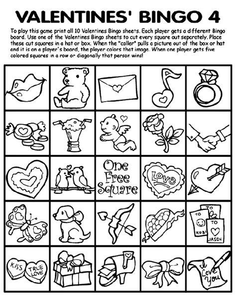 crayola free coloring pages holidays valentine s day valentine s bingo 4 crayola co uk