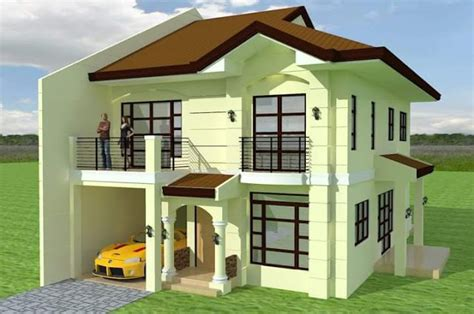 best 2 story 4 bedroom designs for low cost housing 2 story house photos in the philippines bahay ofw