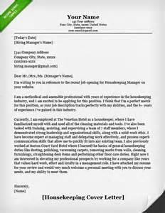 Housekeeper Cover Letter Sle housekeeping and cleaning cover letter sles resume genius