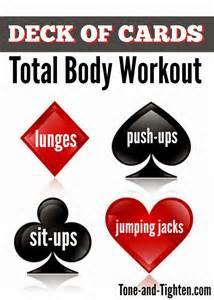 deck of cards deck of cards at home total workout tone and tighten