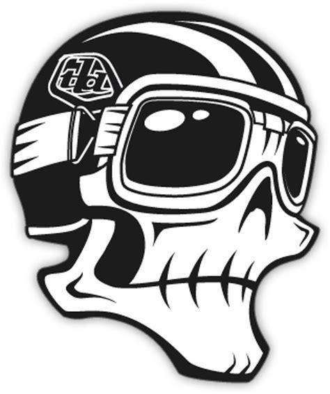 design logo sticker troy lee designs 3 inch skully sticker