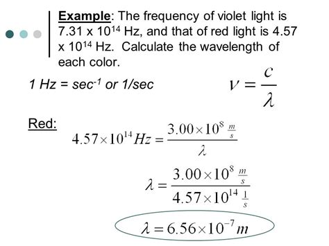frequency of light calculator light photon energies and atomic spectra ppt video