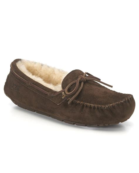 ugg slippers moccasins ugg shearling slipper moccasins dakota in brown lyst