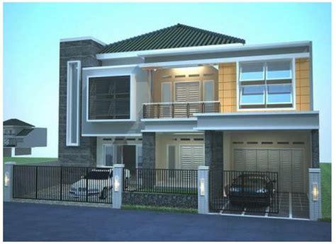 contoh desain rumah lantai 2 minimalis modern gambar rumah minimalis