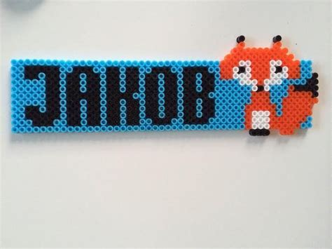 perler names hama pearls name tag fox jakob hama pearls name