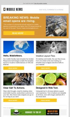 responsive email template exles pinpointe