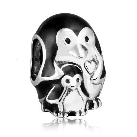 authentic 925 sterling silver penguin family charms with