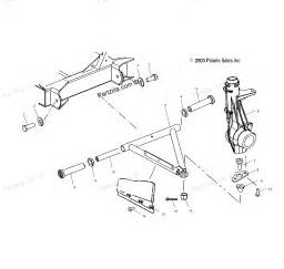 polaris atv parts 2004 a04rb42aa ranger 2x4 4x4 6x6 a arm strut mounting diagram