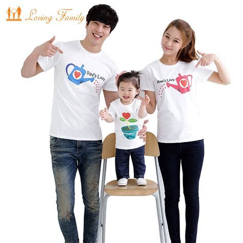 family clothes family fashion cultivate love summer short sleeve t shirt