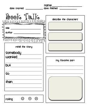 book talk  book review outline  primary plans