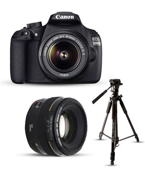 Canon Eos 1200 Kit canon 1200d with ef s 18mm 55mm is ii lens ef 50mm f 1 8