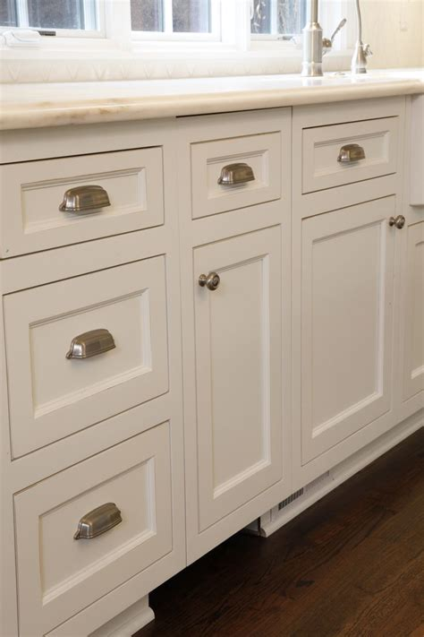Custom White Kitchen Cabinets With Brushed Nickel Hardware Hardware For White Kitchen Cabinets