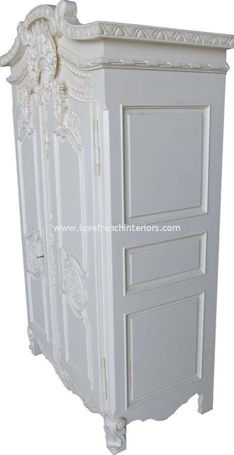 white french armoire wardrobe rococo french armoire wardrobe in antique white
