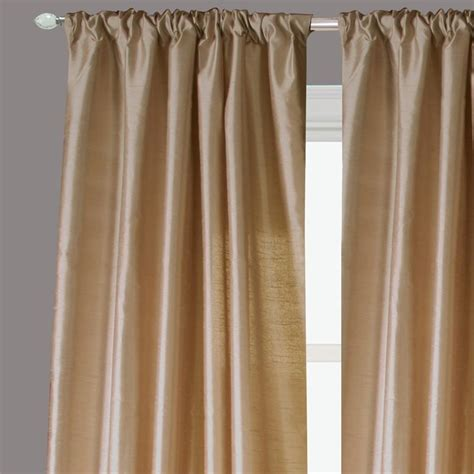 Ready Made Silk Drapery Panels ready made drapery faux silk dupioni bronze