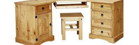 corona corner computer desk pine workstations