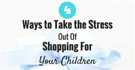 Don T Take Your Stress Out On Your Husband - 4 ways to take the stress out of shopping for your