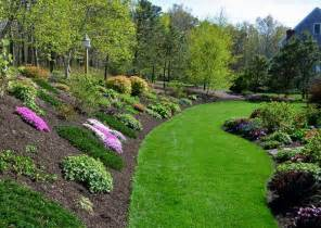 landscaping a hill planting ideas for a hill side gardening pinterest
