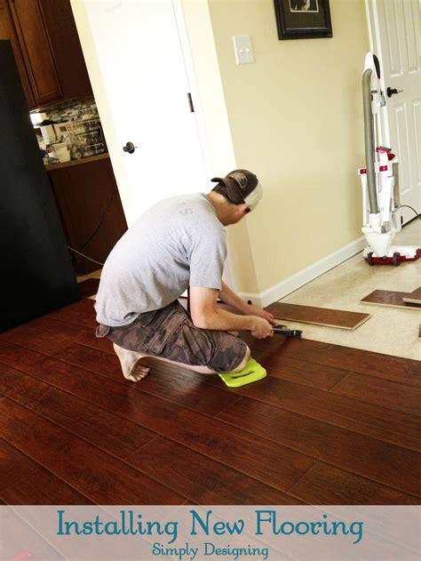 Installing Hardwood Laminate Flooring How To Install Floating Laminate Wood Flooring Part 2 The Installation