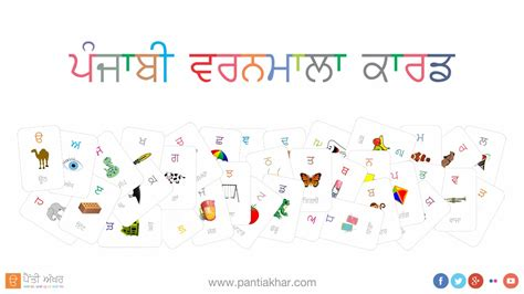printable punjabi alphabet flash cards punjabi alphabet flash card youtube
