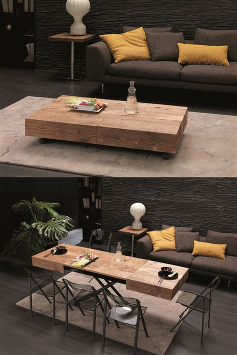 from coffee table to dining table the cristallo table from resource furniture transforms